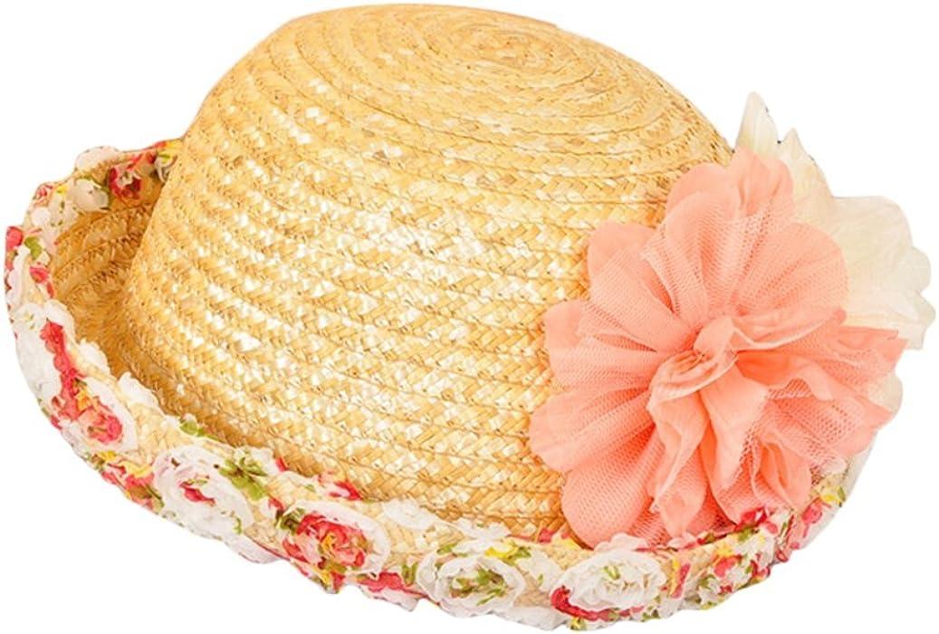 Leisial Sombrero de Paja con Arco Elegante Playa de Natación Viajes Sombrero  al Aire Libre Protector Solar Sombreros para el Sol del Verano para Mujer  Color ... e11babbf8df