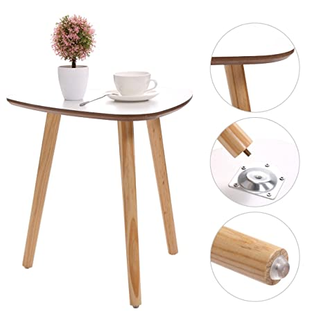 Amazoncom JAXPETY Three Legged Bamboo End Table Modern