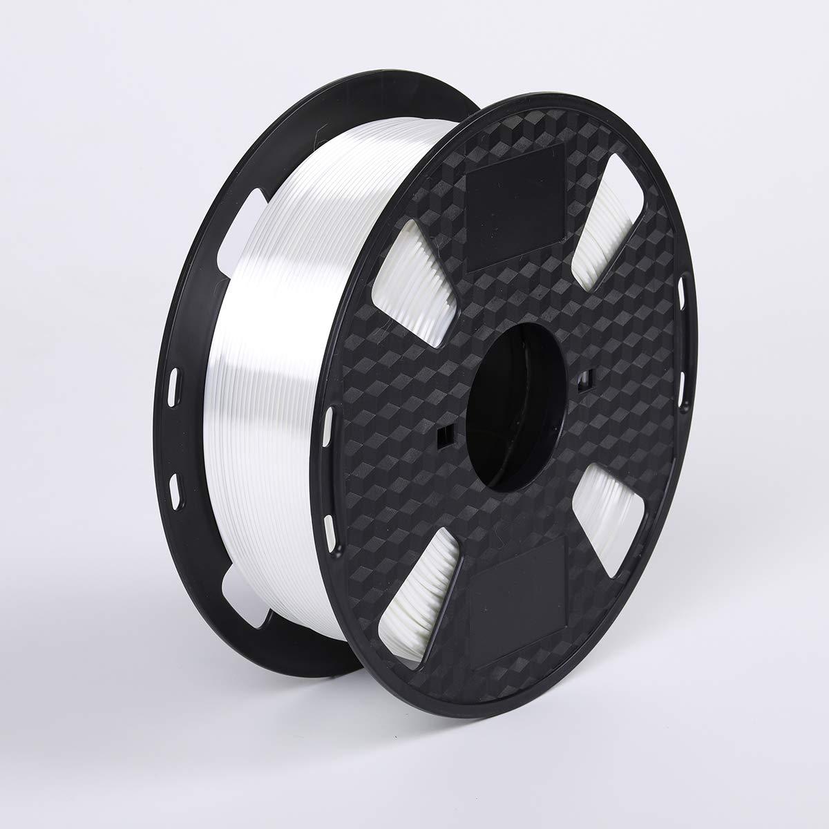 Shiny Pearl White 3D Printer Filament PLA 1.75 mm 1 KG (2.2 LBS) 3D Printing Shine Silk White PLA CC3D ZHUOPU