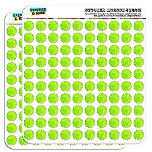 Tennisball 1,3 cm (1.27 cm) Scrapbooking Handwerk Aufkleber