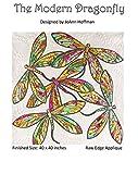 The Modern Dragonfly JoAnn Hoffman Applique Wall Quilt Pattern offers