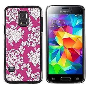 Be Good Phone Accessory // Dura Cáscara cubierta Protectora Caso Carcasa Funda de Protección para Samsung Galaxy S5 Mini, SM-G800, NOT S5 REGULAR! // Floral Pattern Vintage Wallpape