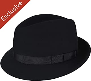 product image for Hats.com Paradigm Fedora - Exclusive Black, Small