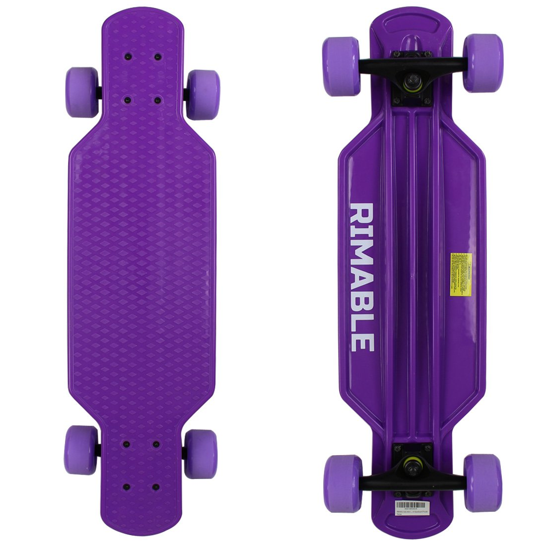 RIMABLE Kids Mini Longboard Skateboard Purple