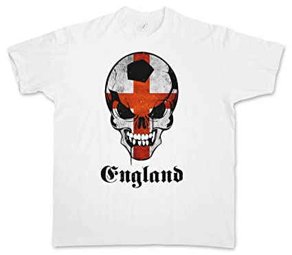 Urban Backwoods Classic Football England Skull Flag T-Shirt – Fußball Fan  Hooligan Death's Head