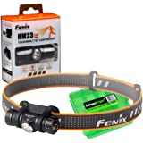 Fenix HM23 240 Lumen LED Headlamp for camping/hiking kids/children with EdisonBright battery carry case
