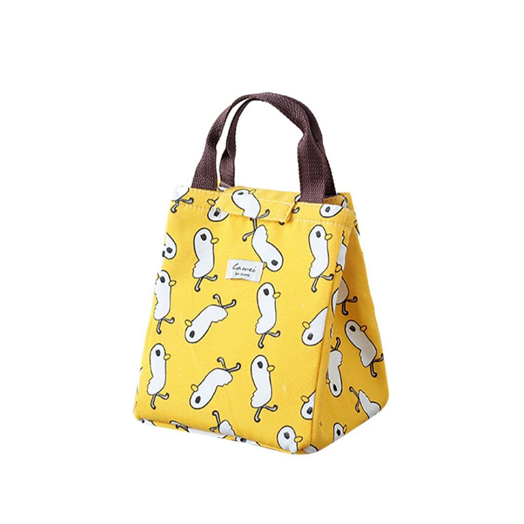 Sttech1 Clearance Sales Cute Lunch Box Bag Tote Waterproof Insulation Bag Large Portable Lunch Box Lunch Bag (Yellow Chick)