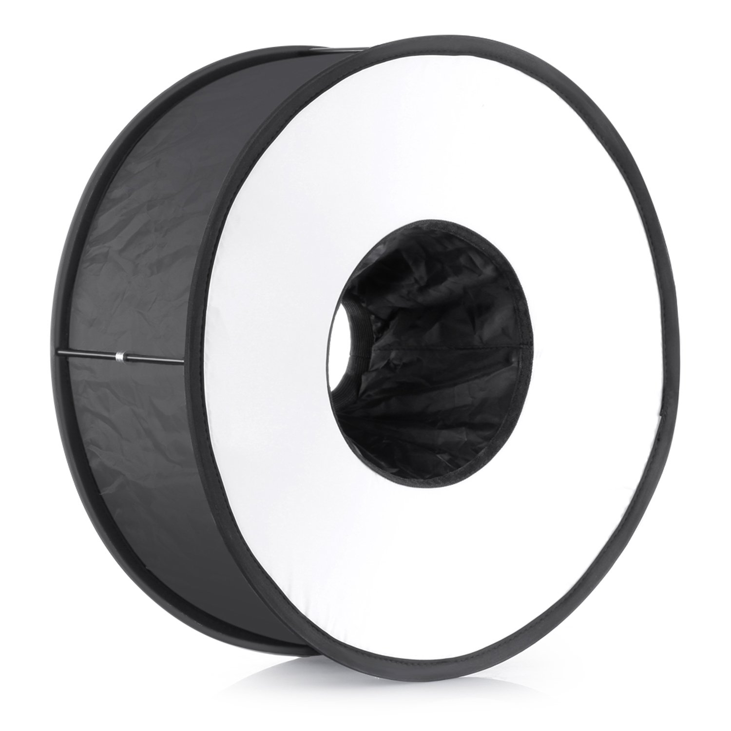 Neewer 18''/45cm Round Universal Collapsible Magnetic Ring Flash Diffuser Soft Box for Canon, Nikon, Yongnuo, Sony(Simplified Version) by Neewer