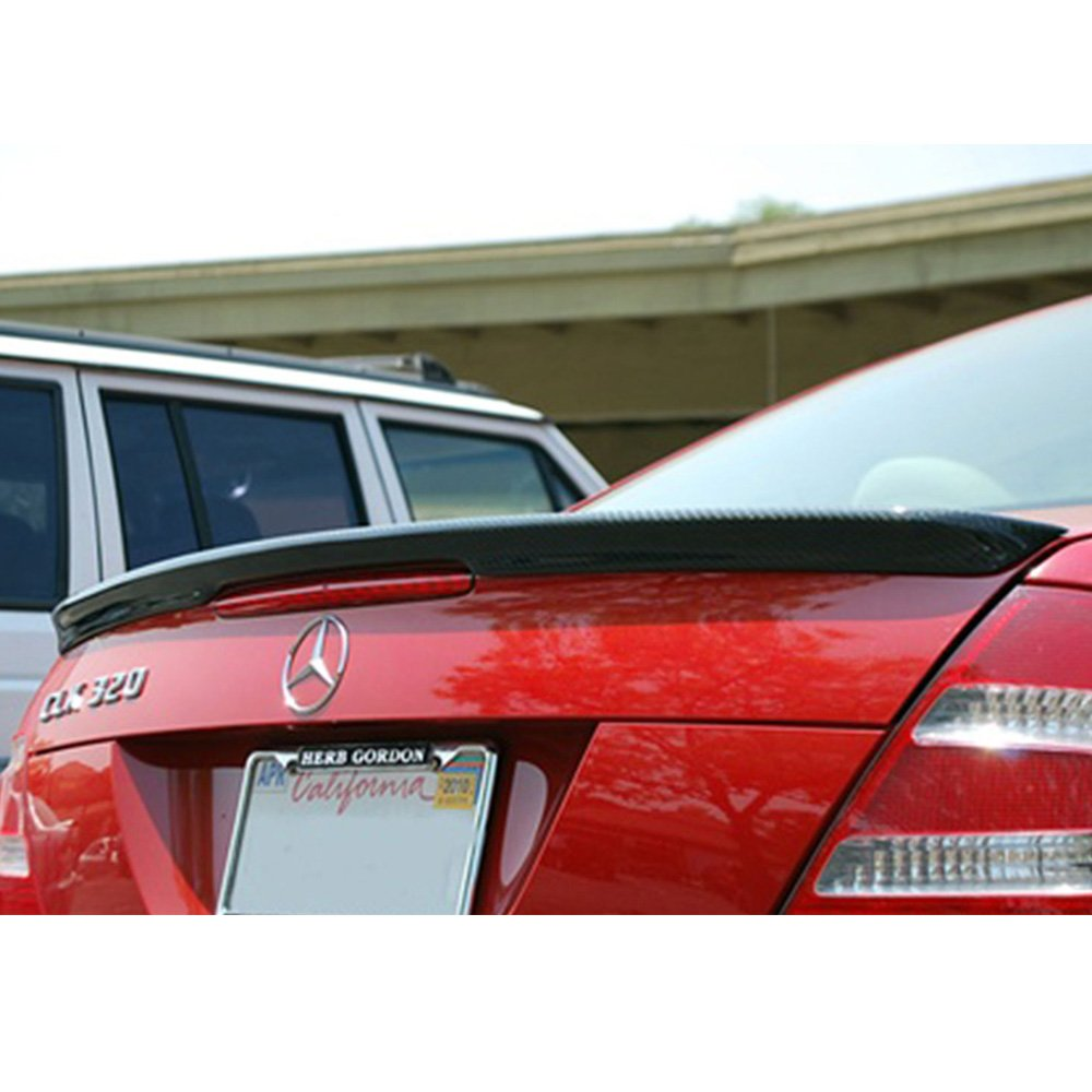 Trunk Spoiler Fits 2003-2008 Benz CLK-Class W209 A Style Carbon Fiber 2004 20005 2006 2007 Finisher Rear Tail lid Deck Boot Wing by IKON MOTORSPORTS CF
