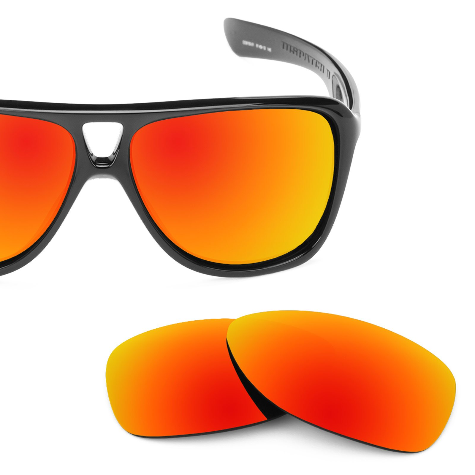 Revant Polarized Replacement Lenses for Oakley Dispatch 2 Fire Red MirrorShield