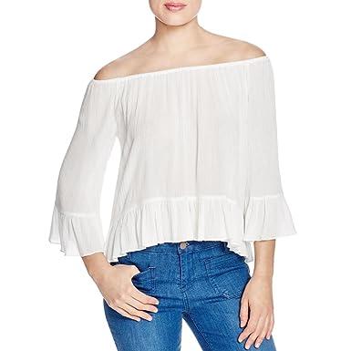 248c92c53786c Sanctuary Clothing womens Julia Off-The-Shoulder Blouse - White -   Amazon.co.uk  Clothing
