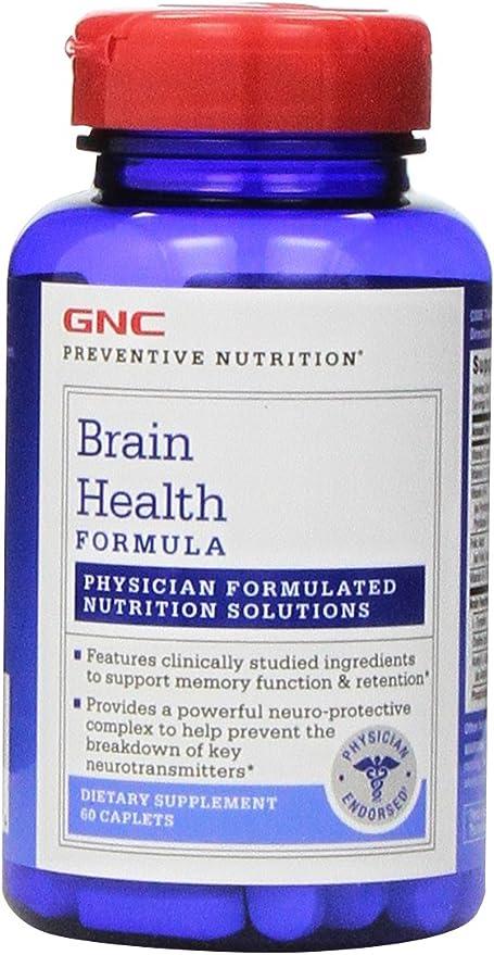 GNC Preventive Nutrition Brain Health Formula, 60 Caplets, Supports Memory Function