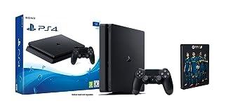PlayStation 4 (1TB, schwarz, slim) FIFA 17 Steelbook Edition Bundle