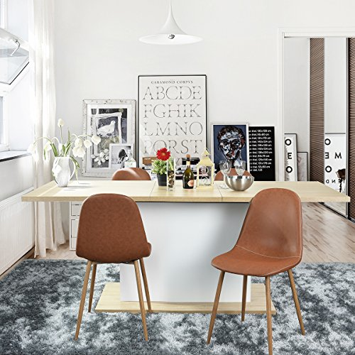 NBF Ethiopia Extension Table Cm With Storage Function - Extendable beech dining table