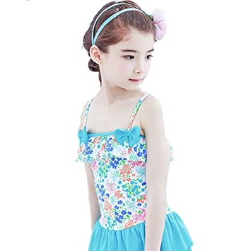 8e408e50d34c0 Diki Home 水着 女の子 子供 可愛い ワンピース水着 一体式の水着 ビキニ フリフリ フリル スイム