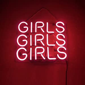 Mugua pink girls girls Beer Neon Sign 14