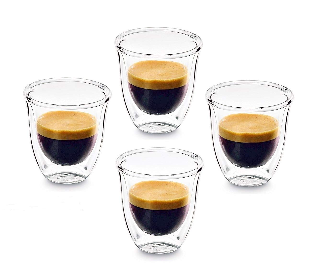 PremiaCasa Double Walled Thermo Espresso Glasses, SET OF 4