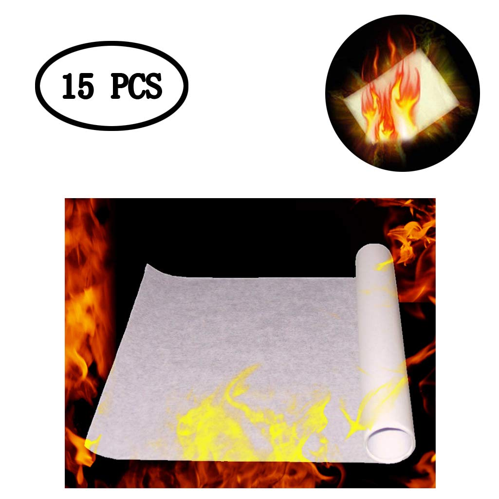 BIEE 15 PC Puntate di Scena Magica Carta Flash Flame Fire Paper Rose Fire Trick per Magic Show Magic Lover