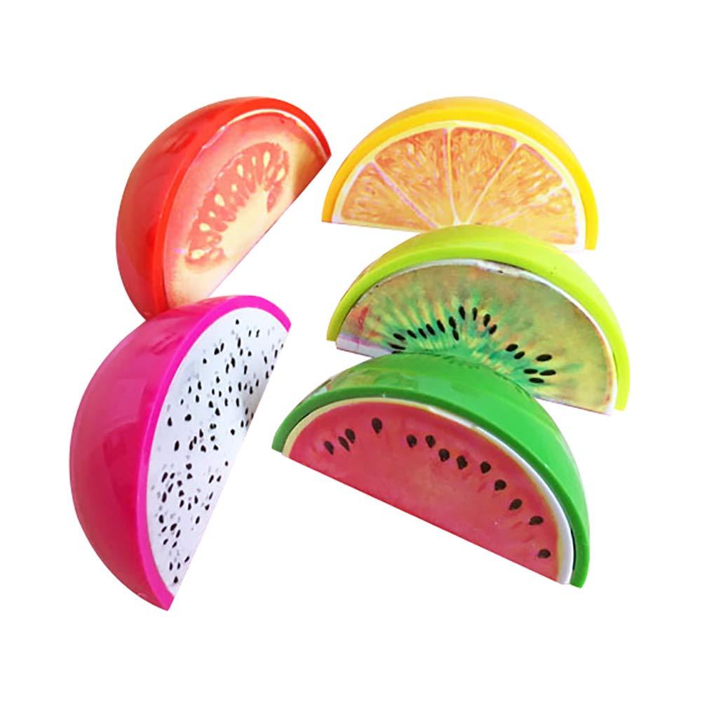 oyfel temperamatite frutta kawaii Mignon Rosa in plastica per bambini ragazzo ragazza Ecole 5PCS colore casuale