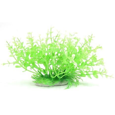 Plantas plásticas para decoración paisaje de acuario de pecera Para Betta Poscar Guppy
