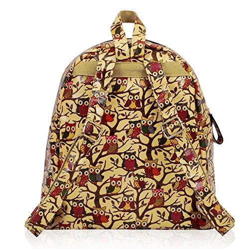 TrendStar - Bolso mochila  para mujer rojo E - Red B - Beige