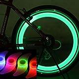【暗闇の危険を回避】 3色セット 自転車 用 ホイール LED ライト スポーク 夜道 安全 簡単 取り付け