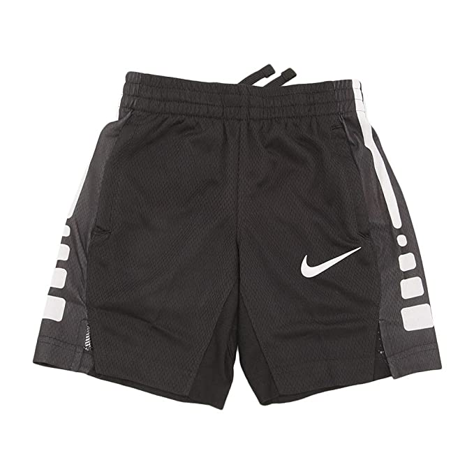 Nike Dry Elite Stripe Boys DriFit Basketball Shorts 850877 White Black Sz S