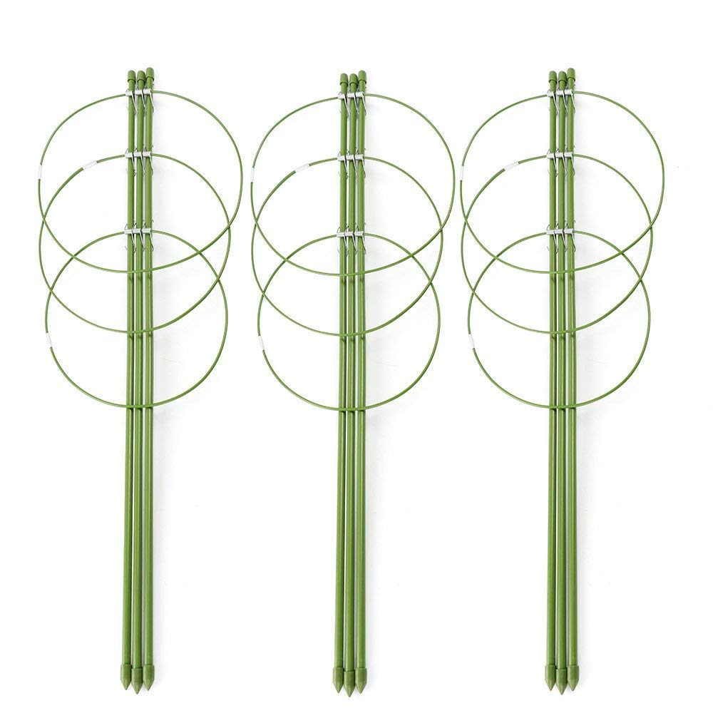 ASSR Climbing Plants Support, Garden Trellis Flowers Tomato Cages Stand Set of 3 Pack