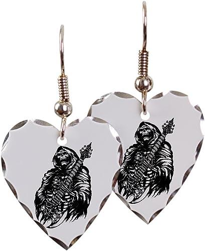 Silver Teardrop Necklace Grim Reaper Heavy Metal Rock Player