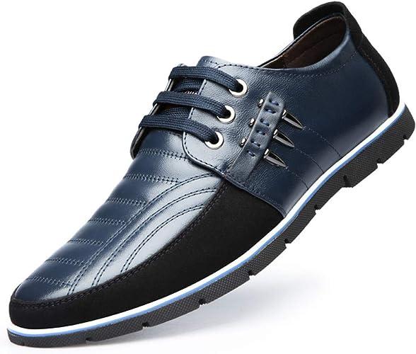 Zapatos de Cordones Mocasines Clásicos de Cuero Oxford con para Hombres Negocios Conducir Informal Zapatillas Deportivas Cómodas