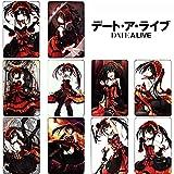 Rain's Pan Anime Date A Live Cosplay Tokisaki Kurumi Crystal Stickers for Card Making Set