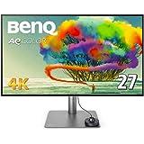 BenQ 27型デザイナー向けモニター PD2720U (4K/IPS/ノングレア/P3 95%/Rec.709 100%/Thunderbolt 3/ブルーライト軽減/DP/スピーカー付/ピボット)