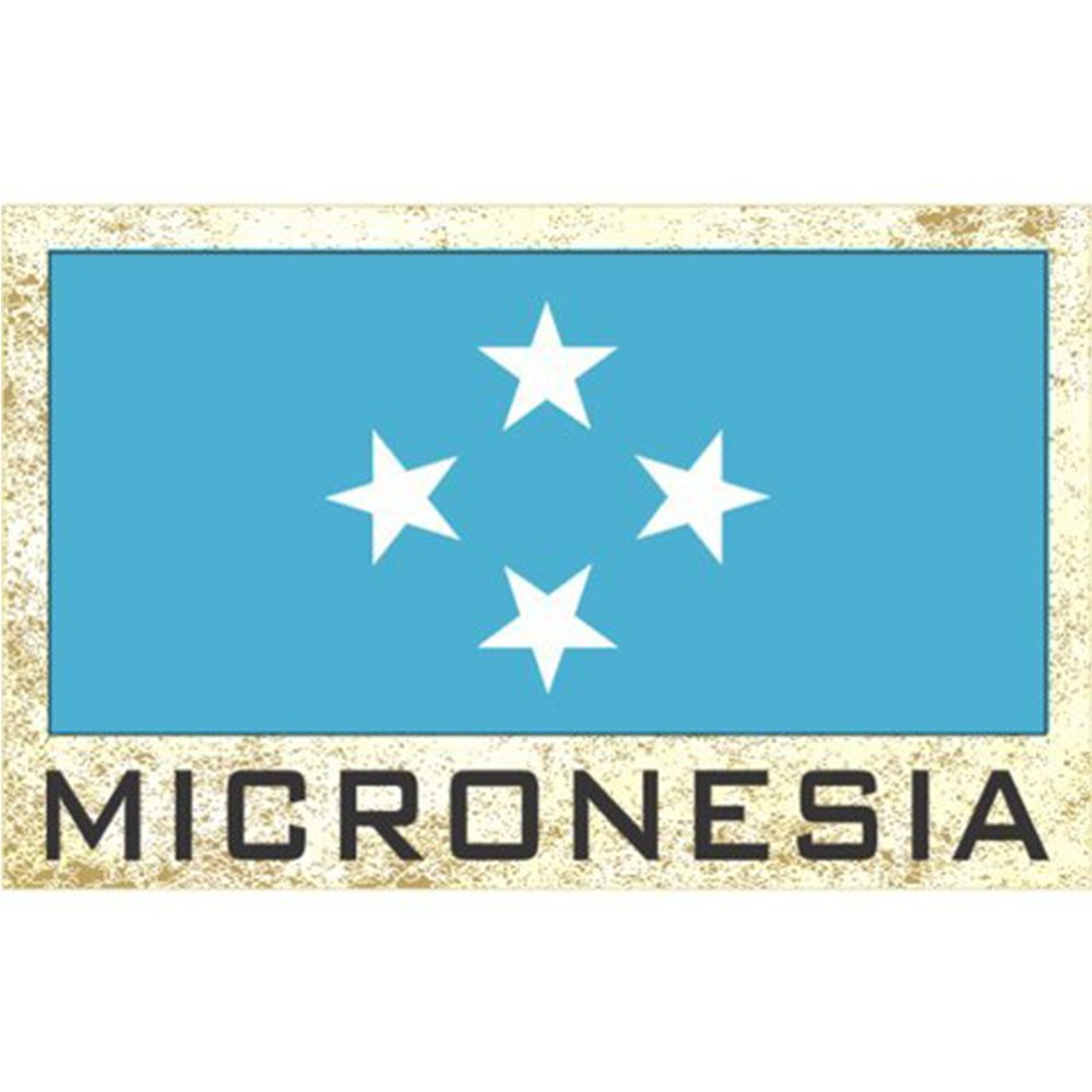 Flag Fridge Refrigerator Magnets – Asia & Africa Group 3 (Country: Micronesia)