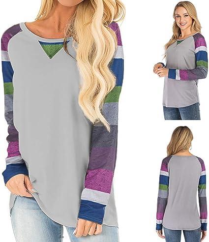 Mujer Camiseta Mangas Largas,🍒 Madeuf 🍒 deporte Camiseta Mujer ...