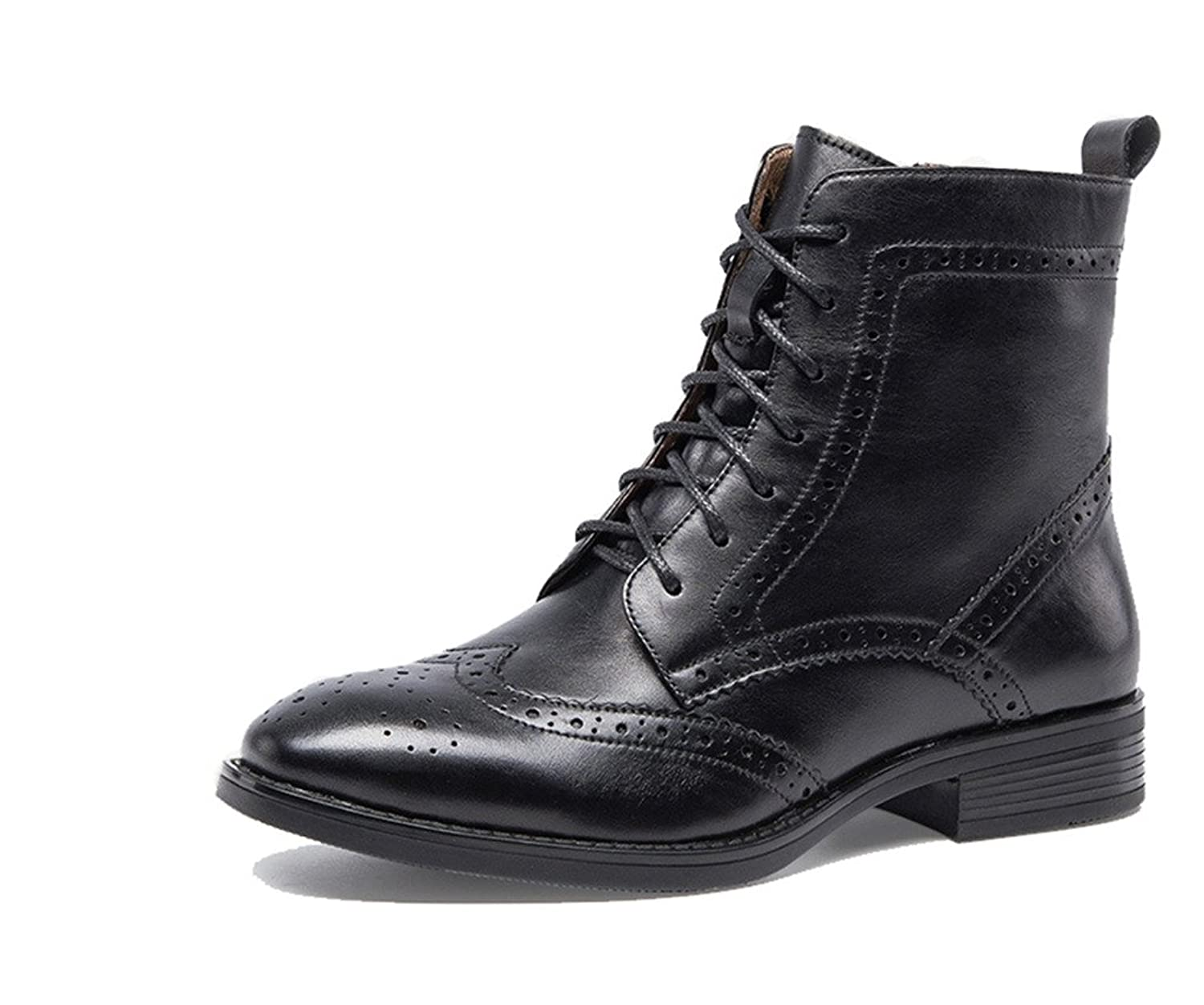 Vintage Boots- Buy Winter Retro Boots U-lite Womens Fall Winter Perforated Wingtip Brogue Leather Oxfords Ankle Boots Women Combat Lace-up Zipper Marten Booties $105.99 AT vintagedancer.com