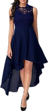 Dreamskull Mesdames Femmes En Mousseline De Soie Robes De Soiree Pas Cher Robe Fourreau De Mode Sexy Bleu S Amazon Fr Vetements Et Accessoires