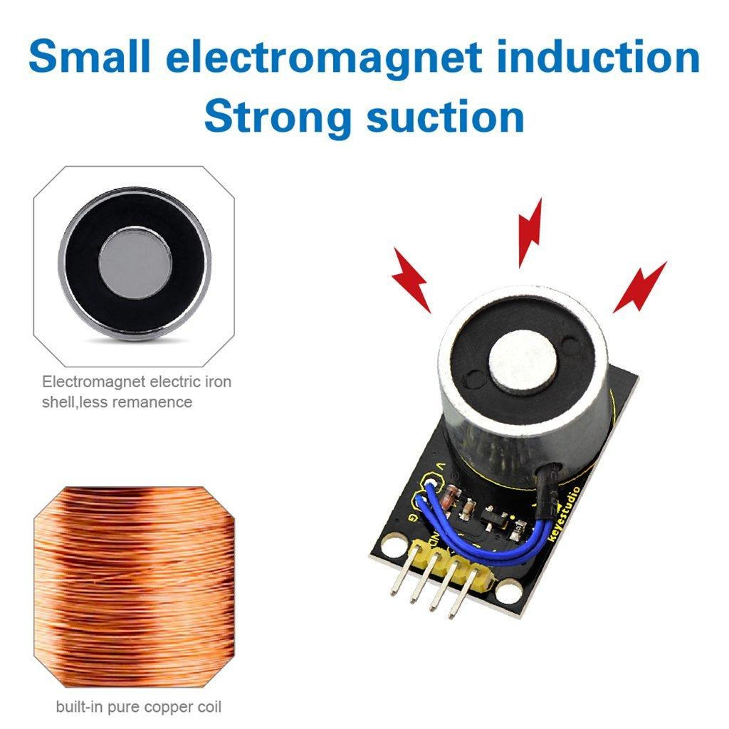 Homyl Electromagnet Sensor Module DC5V 10N Sucker Electric Magnet for Arduino