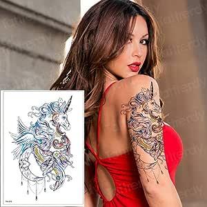 adgkitb 3 Piezas Tatuajes temporales para Mujeres Pierna Hombro ...