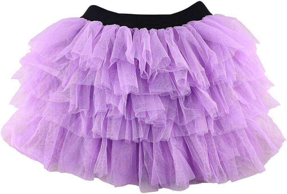 Wennikids Baby Girls Dance Skirt Chiffon Pettiskirt Tutu