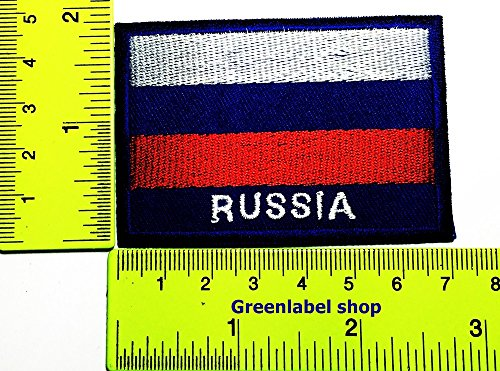 Each country's flag Russia flag Patch Logo Sew Iron on Embroidered Appliques Badge Sign Costume Send Free Registration