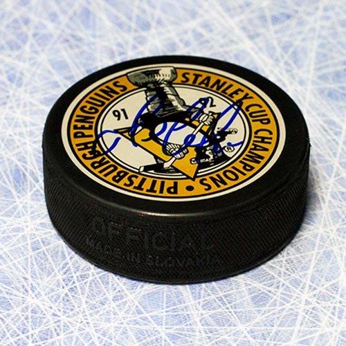 Mario Lemieux Pittsburgh Penguins Autographed Stanley Cup Champions Puck ()
