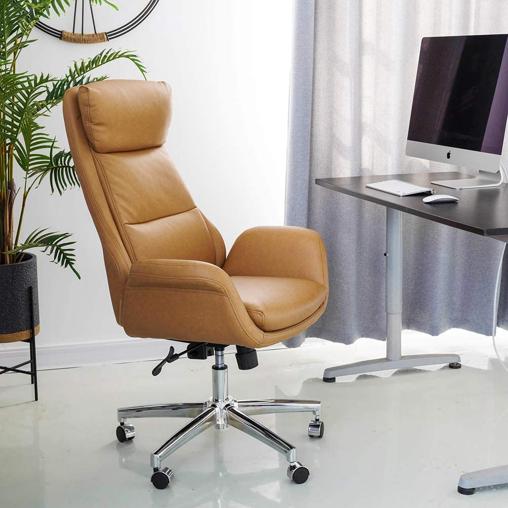 Glitzhome Adjustable High-Back Office Chair