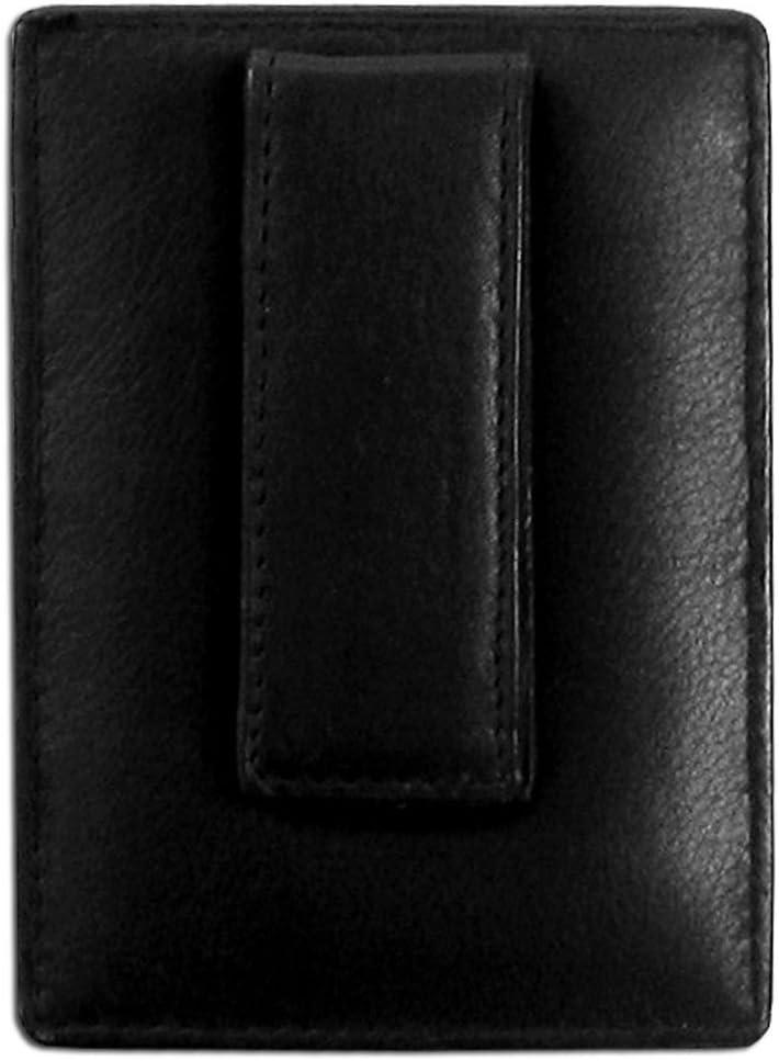 Siskiyou NHL mens Leather Money Clip//Cardholder Packaged in Gift Box