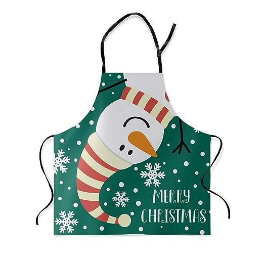 HomeCreator - Delantal Ajustable para Cocina, diseño de Papá Noel ...