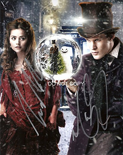 Doctor Dr. Who Matt Smith & Jenna Coleman - Dr Who Signed