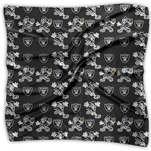 Aoskin Oakland Raiders Square Hair Scarf Women's Scarf Fashion Printed Square Scarf]()