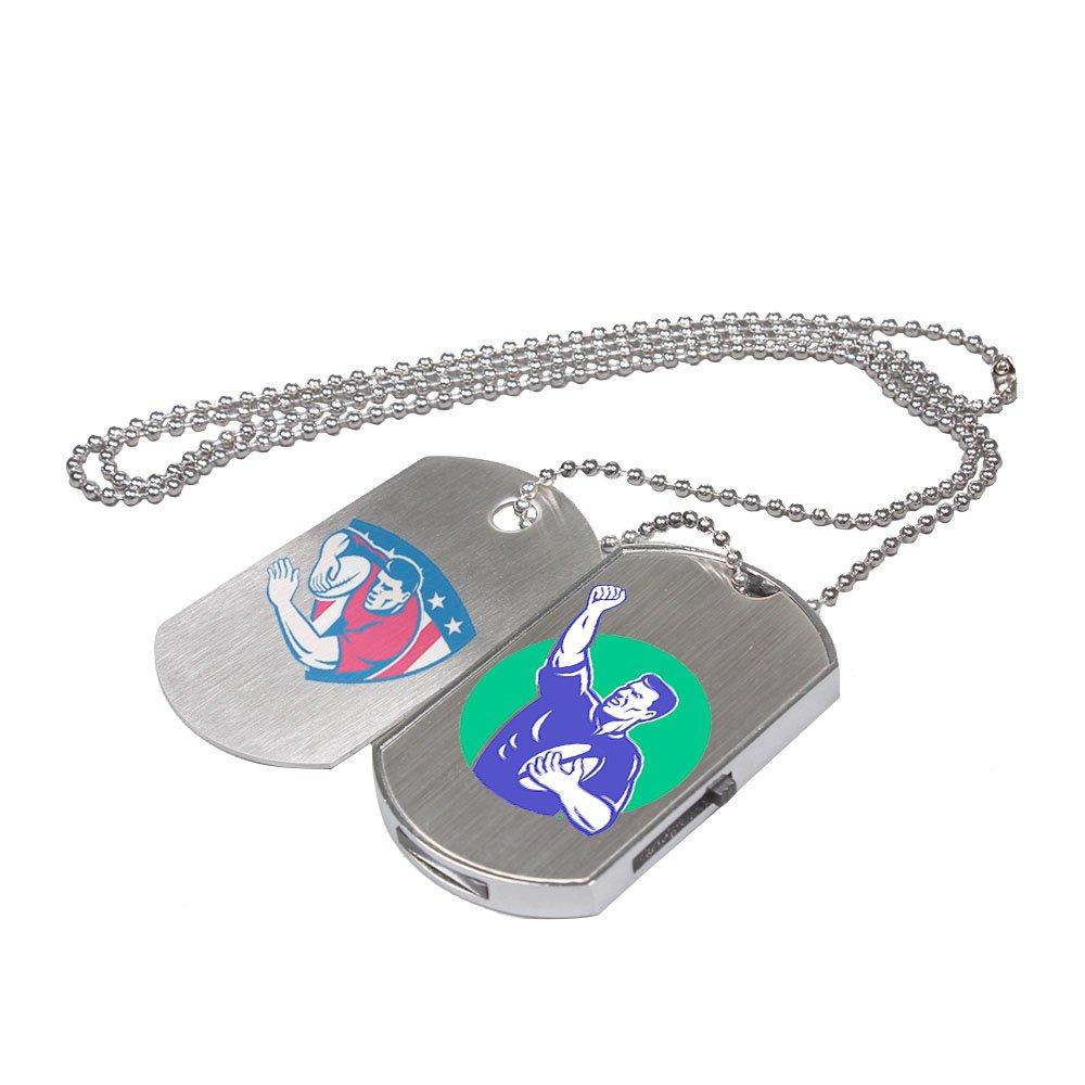 Custom Logo USB Flash Drive Dog Tag Necklace Metal Pendrive Memory Stick 50 Bulk Pack (2GB) by Generic (Image #1)