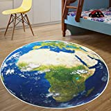 world carpet - Jeteven 31.5 Inch Kids Rug World Map Round Area Rugs Baby Crawling Mats Game Blanket Floor Playmats Carpet for Living Room Bedroom, Non Slip