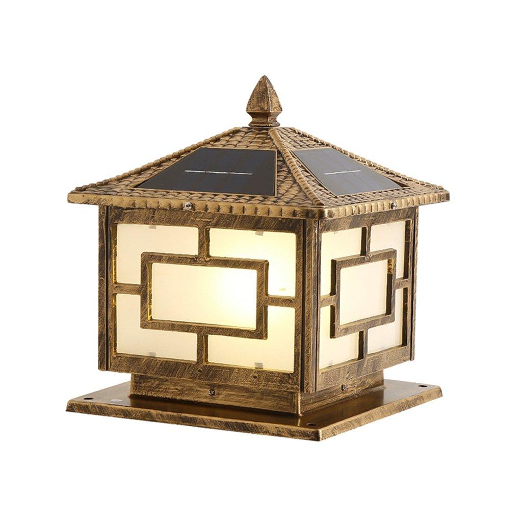 Brilliant firm Illuminazione per esterni Luci solari Luce calda solare da esterno giardino luci applique da parete luci esterne luci post luci impermeabili A++ (Colore   Brass, Dimensione   46cm)