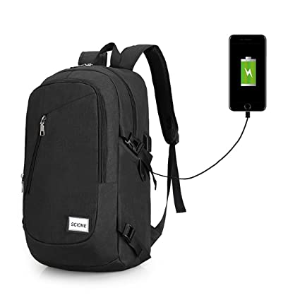cc984ecdad99 Waterproof Computer Laptop Backpack Outdoor Travel Backpacks with USB  Charging Port High school bag Adult Campus